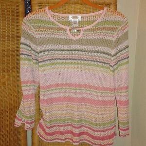 Talbots women's size SMALL knitted topmulticolored